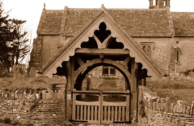Lychgate, Church of St Margaret, Leigh Delamere, Wiltshire 2014