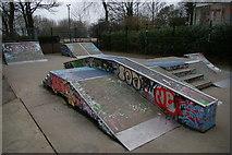 TQ2990 : Skate park, Alexandra Palace by Christopher Hilton
