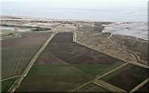 TF5557 : Gibraltar Point, former marshes and site of Wainfleet Harbour: aerial 2017 by Chris