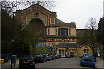 TQ2990 : North entrance to Alexandra Palace, and former station building by Christopher Hilton