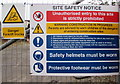 ST3088 : Site Safety Notice, Factory Road, Newport by Jaggery