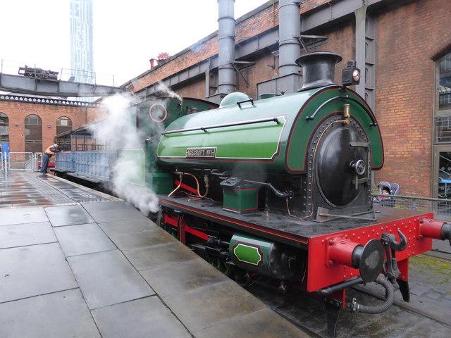 Saddle tank locomotive