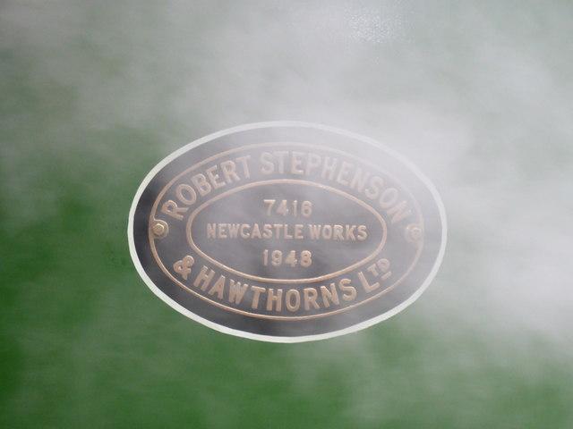 Locomotive maker's plate
