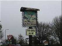 SK1576 : Pub sign by Bob Harvey