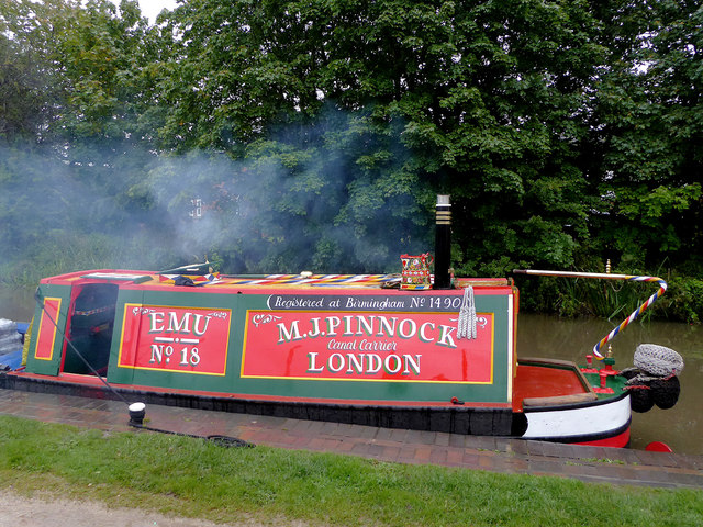 Working narrowboat (detail)  by Glascote Basin, Staffordshire
