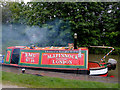 SK2103 : Working narrowboat (detail)  by Glascote Basin, Staffordshire by Roger  Kidd