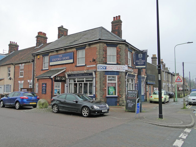 'The Oxford Arms', public house, Oxford Road, Lowestoft