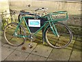 NY9364 : Advertising bike outside the Queen's Hall by Oliver Dixon