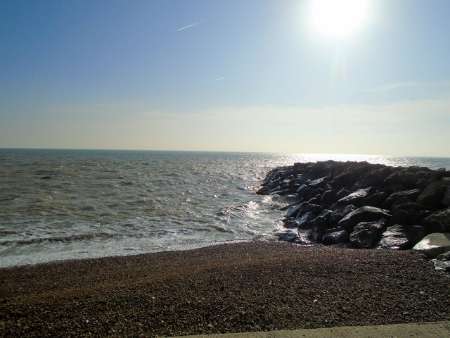 Beach and Rocks - Rottingdean by Paul Gillett