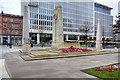 SJ8398 : War Memorials, St Peter's Square by David Dixon