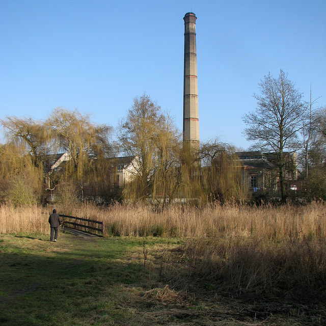 Logan's Meadow and the pumping station chimney