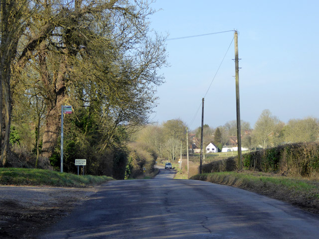 Approaching Barton Stacey from the south