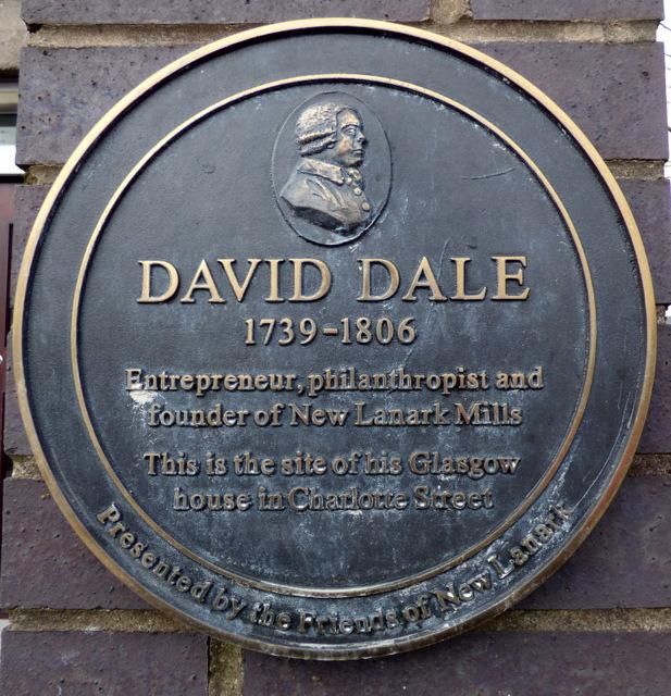 David Dale plaque, Charlotte Street