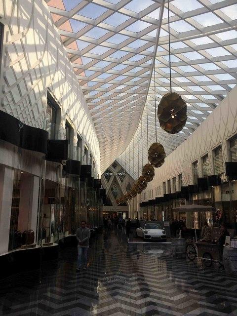 Inside shot of Victoria Gate shopping Leeds