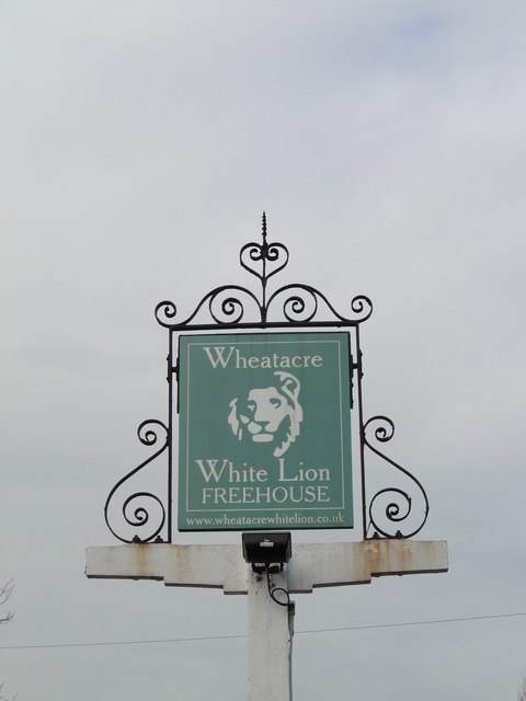 The sign of Wheatacre 'White Lion'