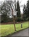 SJ8546 : Newcastle-under-Lyme: Cornwall House, Sandy Lane - signpost by Jonathan Hutchins