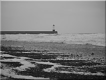 NU0052 : Spittal's Spume-strewn Shore by James T M Towill