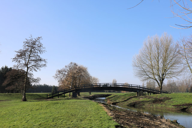 Golfers' bridge over the River Lark