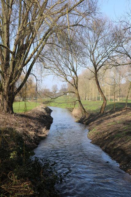River Lark downstream of the former Fornham Lock