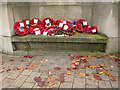 SE3033 : Poppies on Leeds Minster war memorial  by Stephen Craven