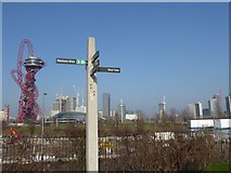 TQ3784 : View of The Orbit from the Greenway by Marathon