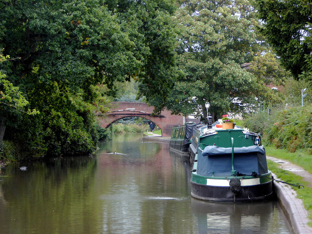 Visitor moorings at Hopwas in Staffordshire