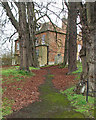TL2249 : Potton: churchyard path and St Mary's House by John Sutton