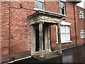 SJ8546 : Newcastle-under-Lyme: porch on side of 3 King Street by Jonathan Hutchins