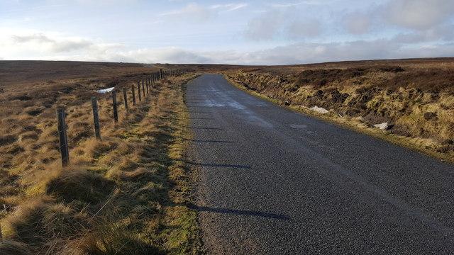 Road over Hunstanworth Moor