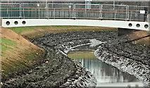 J3674 : Connswater works, Belfast - February 2017(2) by Albert Bridge