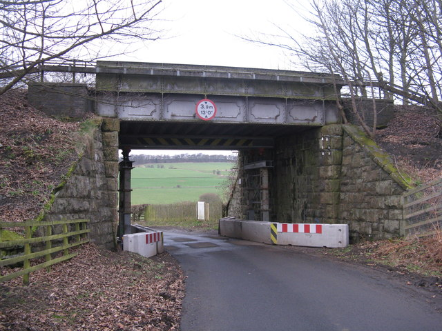 Railway bridge by Moss Cottages