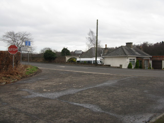 Road junction at Moss Cottages