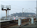 NS1968 : Signals at Wemyss Bay railway station by Thomas Nugent