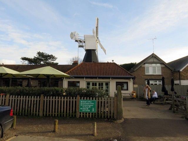 Tearoom and windmill on Wimbledon Common