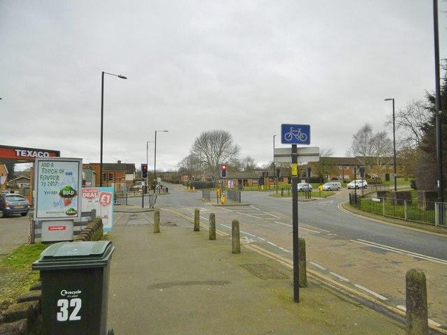 Tile Hill, road junction