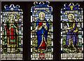 TF6119 : Stained glass window, King's Lynn Minster by Julian P Guffogg