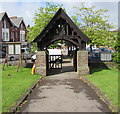 ST3087 : Lychgate at the main entrance to St Woolos Cathedral, Newport by Jaggery