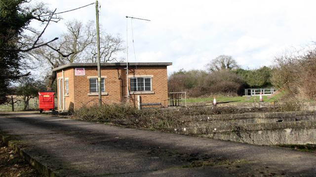 Caistor St Edmund sewage works - pumping station and settlement tanks