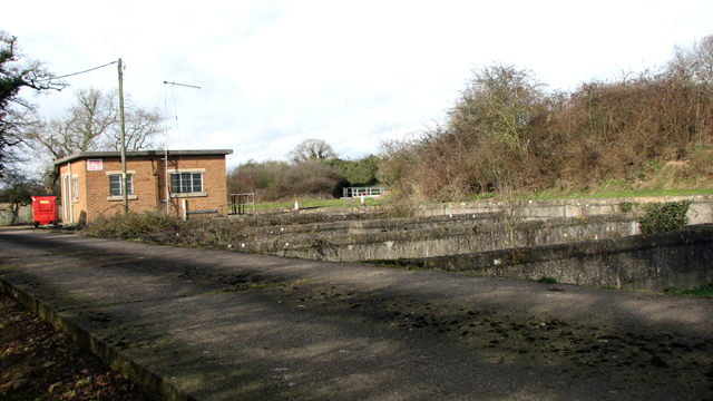 Concrete road into Caistor St Edmund sewage works