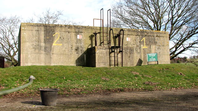 Caistor St Edmund sewage works - sludge tanks