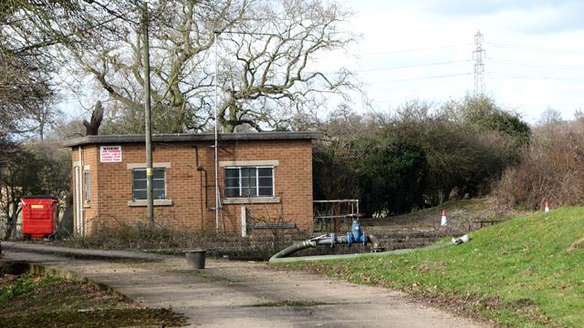 Caistor St Edmund sewage works - the pump house
