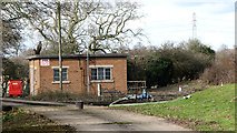TG2202 : Caistor St Edmund sewage works - the pump house by Evelyn Simak