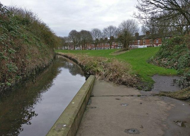 Saffron Brook at Aylestone Park, Leicester