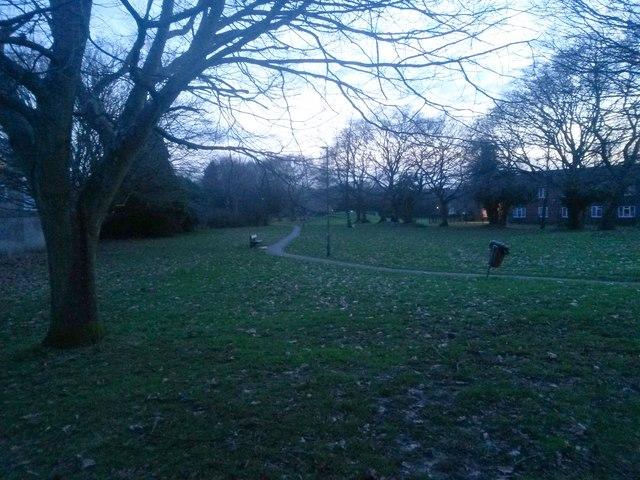 Ensbury Park: footpath N26 goes across the open space