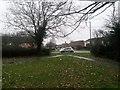 SZ0794 : Ensbury Park: footpaths N26 and N29 reach Slades Farm Road by Chris Downer