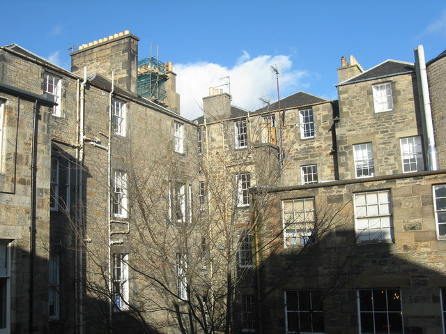 Edinburgh tenements - rear view