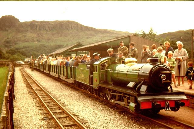 Ravenglass & Eskdale train at Dalegarth, 1962