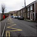 SS8690 : Zigzag markings on Mission Road, Garth, Maesteg by Jaggery