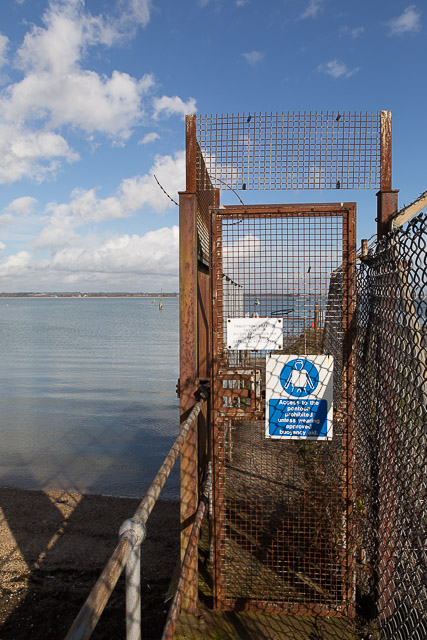 Fawley Power Station access to pontoon
