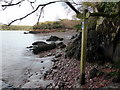 SM8507 : Pembrokeshire Coast Path, sign at Sandy Haven by PAUL FARMER